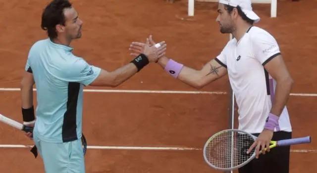 ATP1000 Mutua Madrid, Berrettini batte Fognini 6-3 6-4