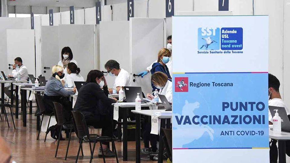 Toscana terzultima per vaccini somministrati