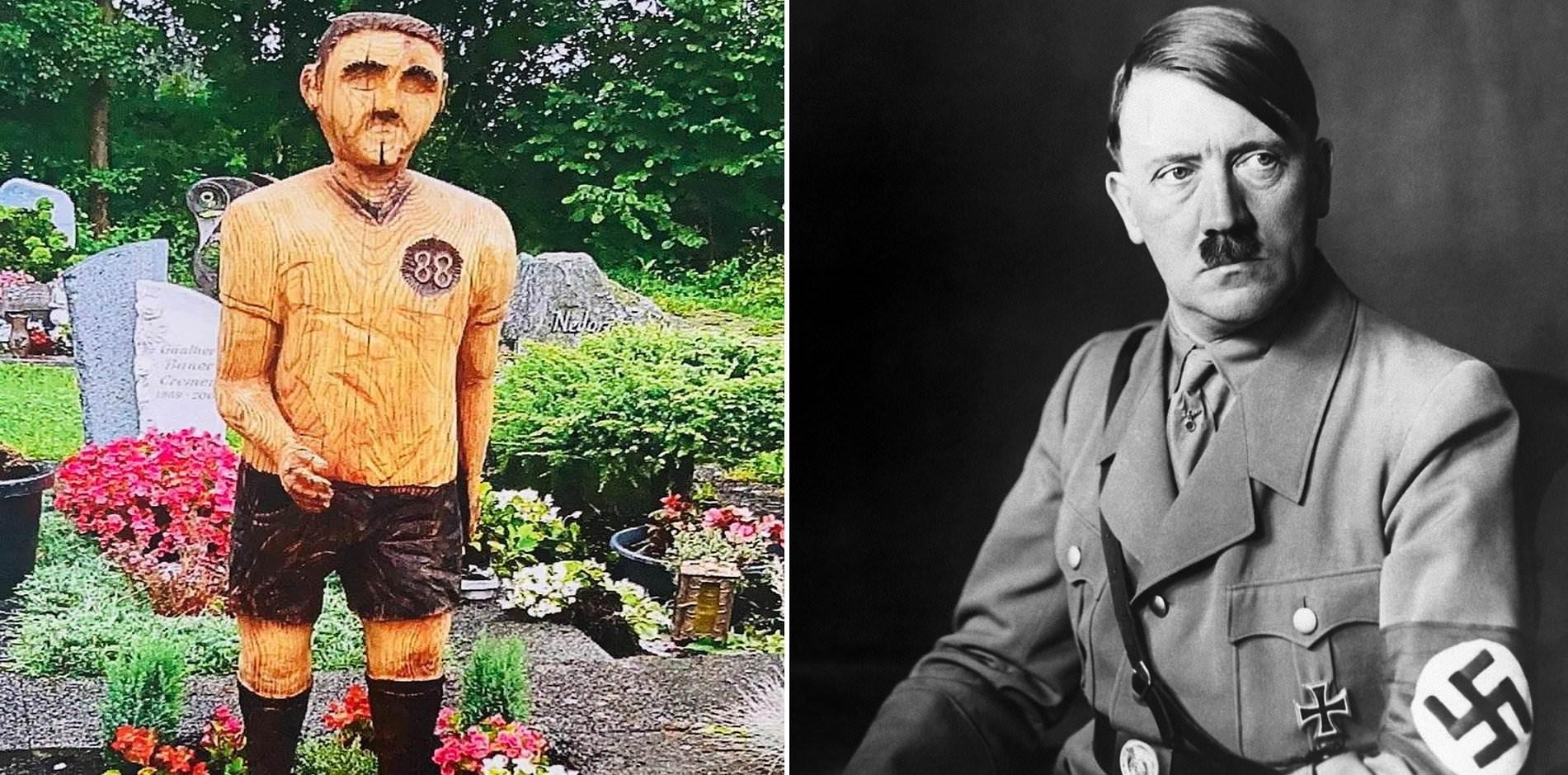 Costretto a rimuovere la statua sulla tomba del padre, assomiglia a Hitler